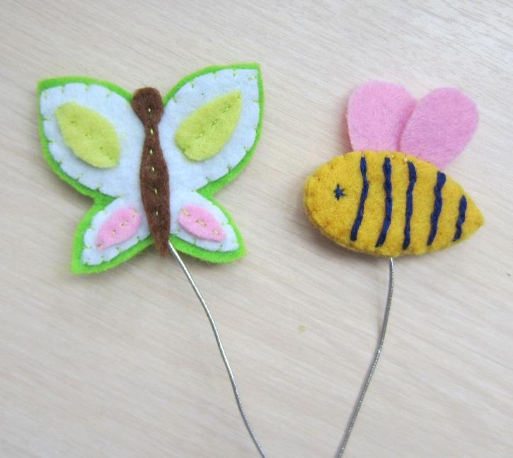 Пчелка и бабочка