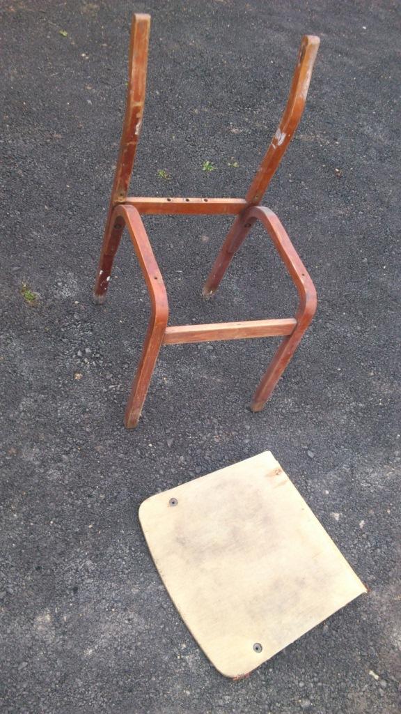 реставрация старого стула фото