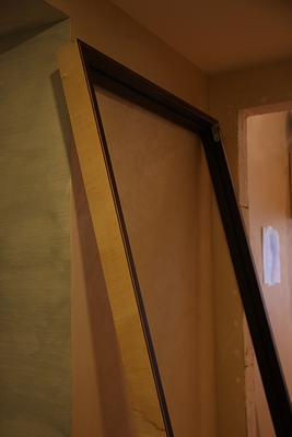 как установить дверь фото