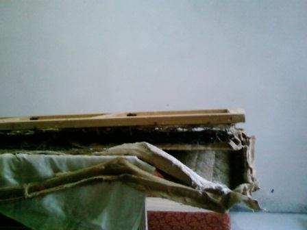 Ремонт старого дивана