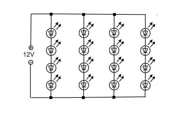 Как сделать схему из светодиодов 272