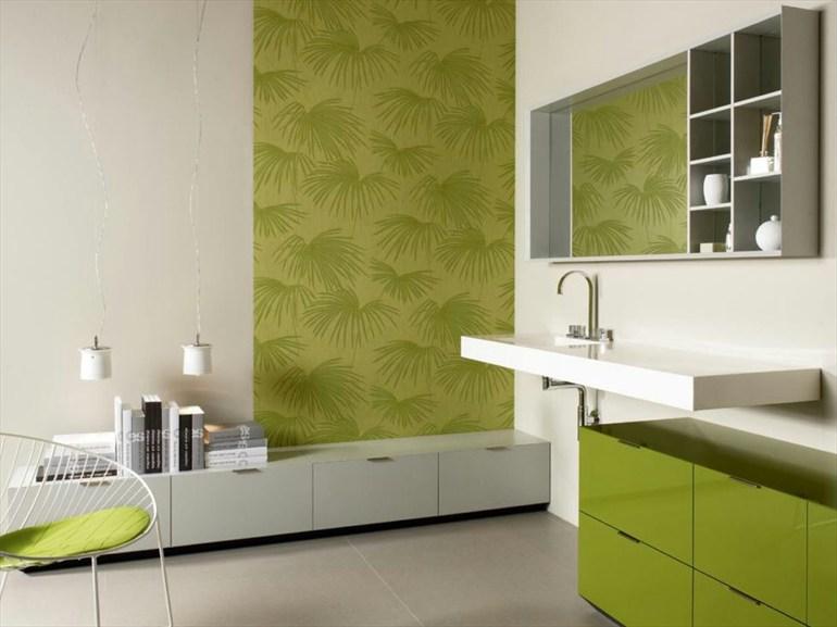 Зеленый в ванной