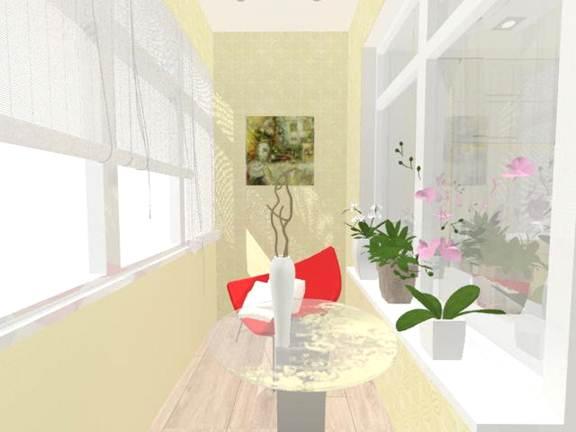 Дизайн-проект лоджии