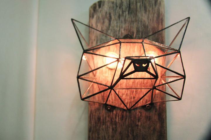 витражный светильник
