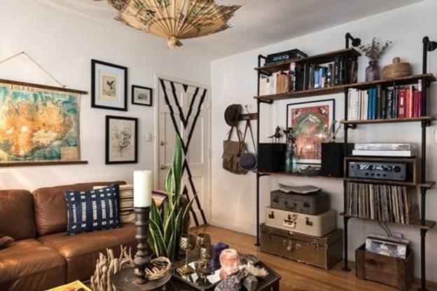 Богемный интерьер маленькой квартиры своими руками