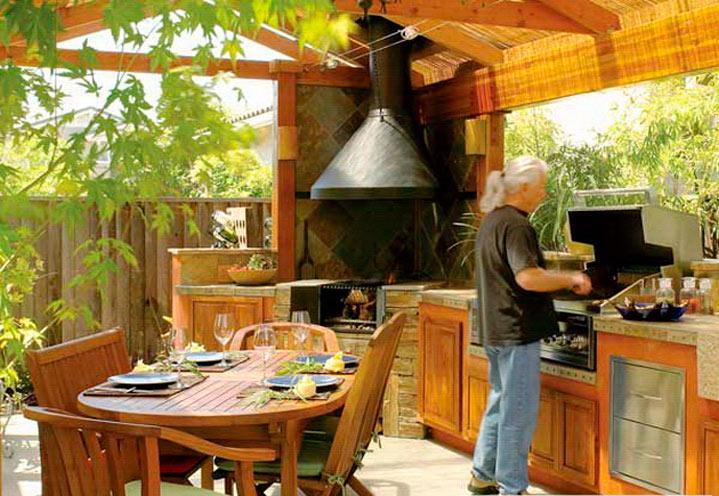 Летняя кухня надачу
