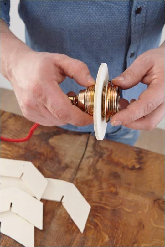 Изготовление светильника