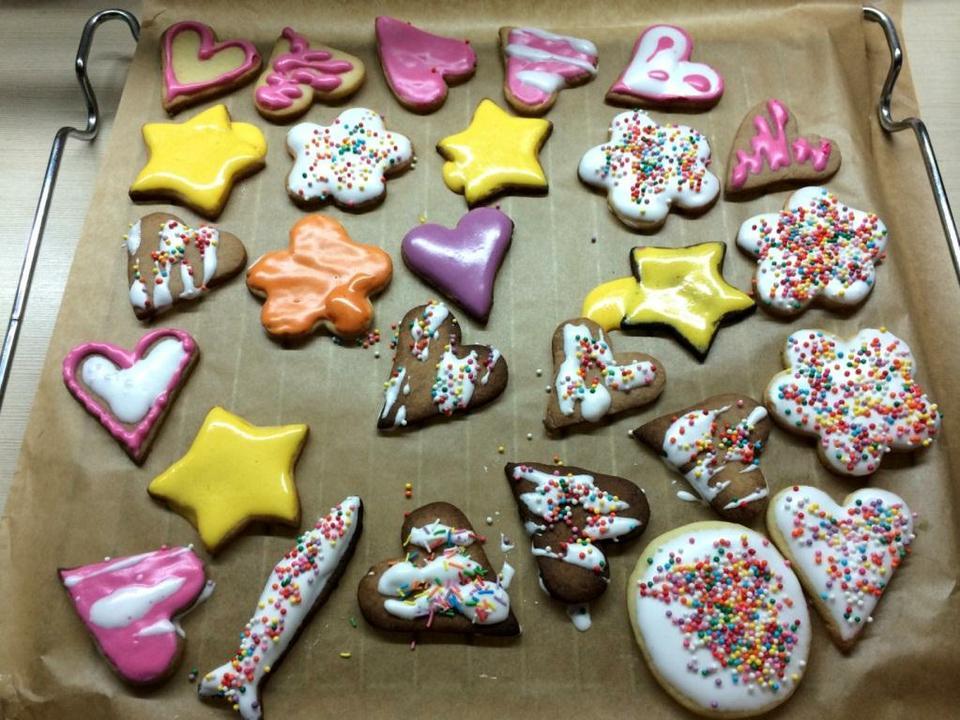 Печенье с белковой глазурью