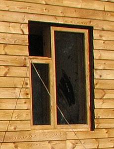 Окно из евробруса