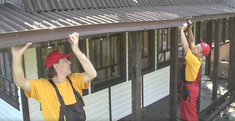 Инструкция помонтажу водосточной системы для малоэтажного строительства