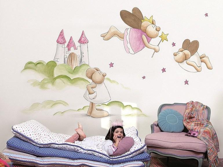 как выбрать красивые и оригинальные обои для детской детские яркие
