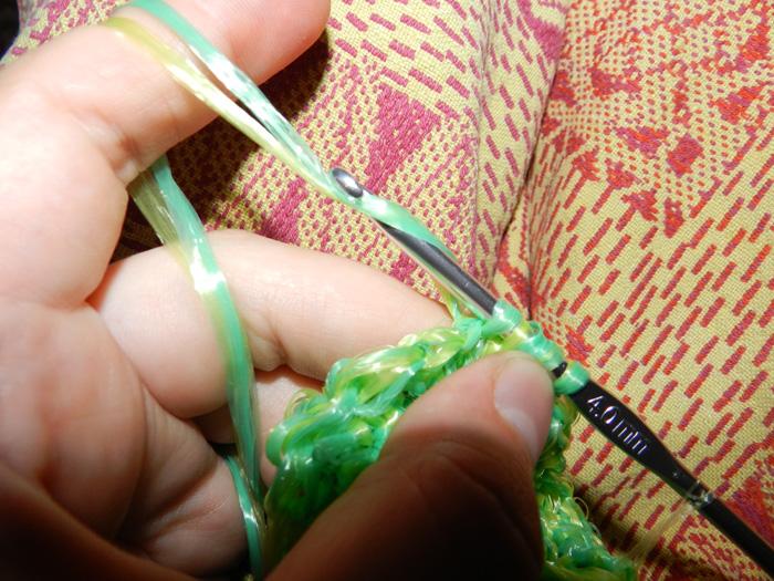 вязание крючком столбик