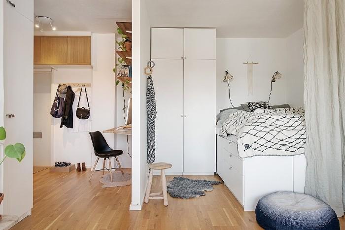 Зонирование небольшой квартиры