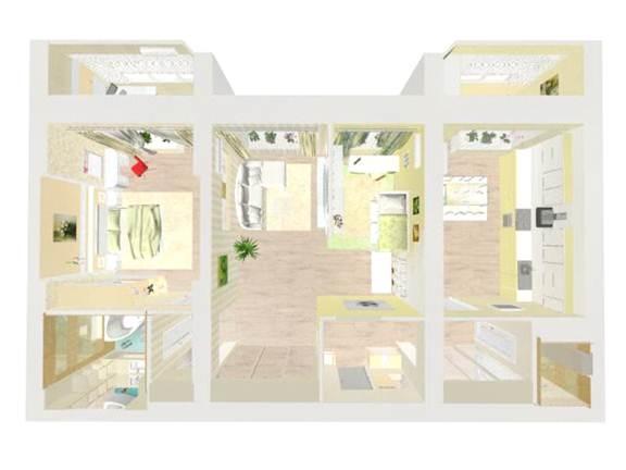 3D проект квартиры