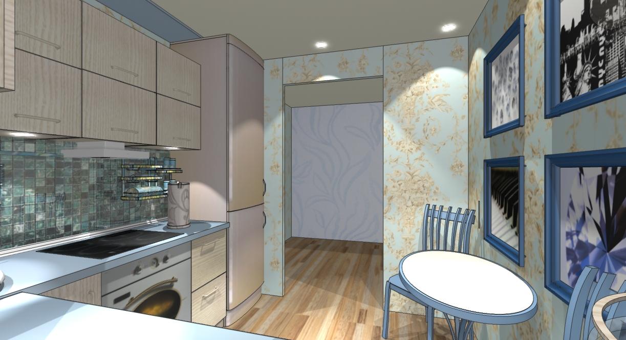 Дизайн маленькой кухни 7 кв м окно