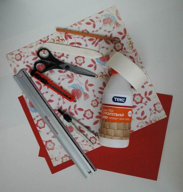 Материалы для изготовления салфетницы