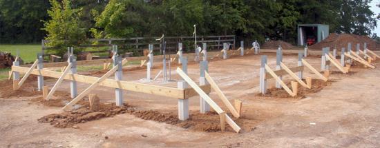бетонного плитного фундамента