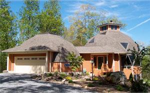Купольные конструкции жилого дома с гаражом и всеми пристройками, техническими коммуникациями и службами