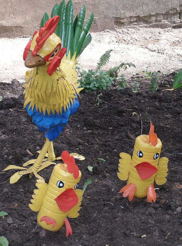 Как из пластиковых бутылок сделать цыплят