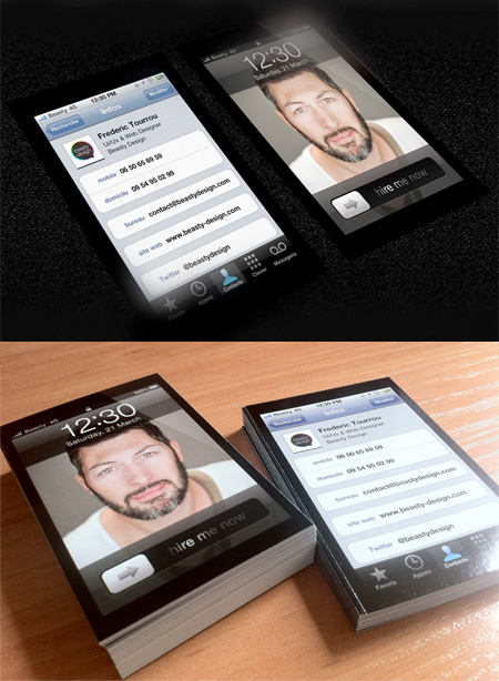 iPhone - визитки