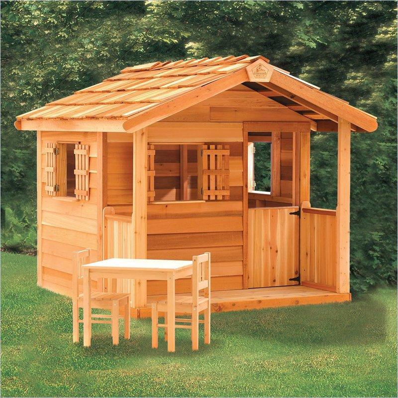 Деревянный детский домик