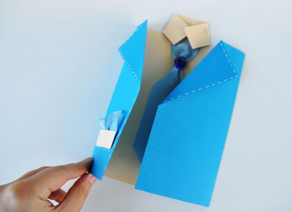 Подарок своему папе из бумаги