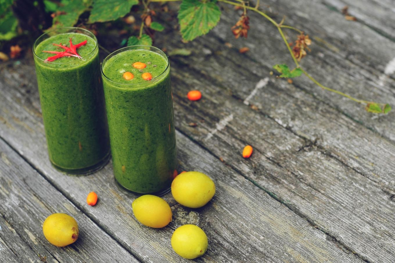 Зеленый коктейль для осени