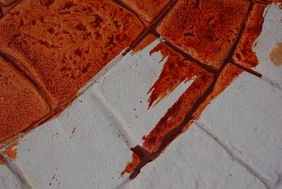 Штамп и подсохший бетон