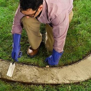 Как сделать бетонные бордюры для клумб исадовых дорожек