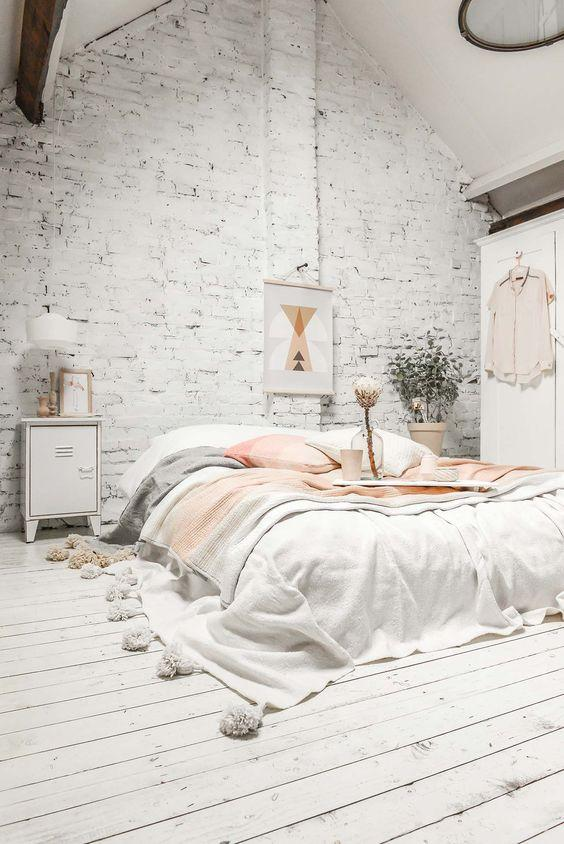Scandinavian interior-bedroom