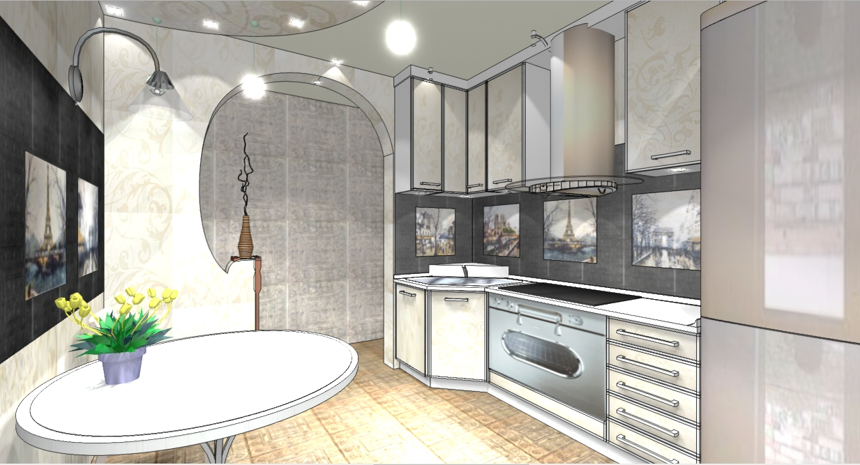 Дизайн проект французский интерьер кухни  Французский стиль в интерьере