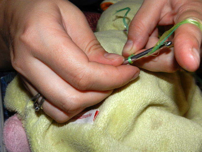 как связать мочалку крючком