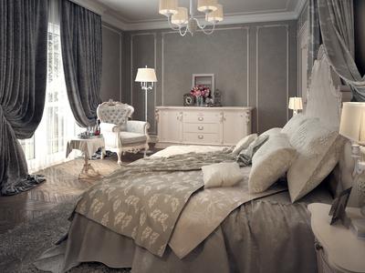 Спальня в стиле необарокко