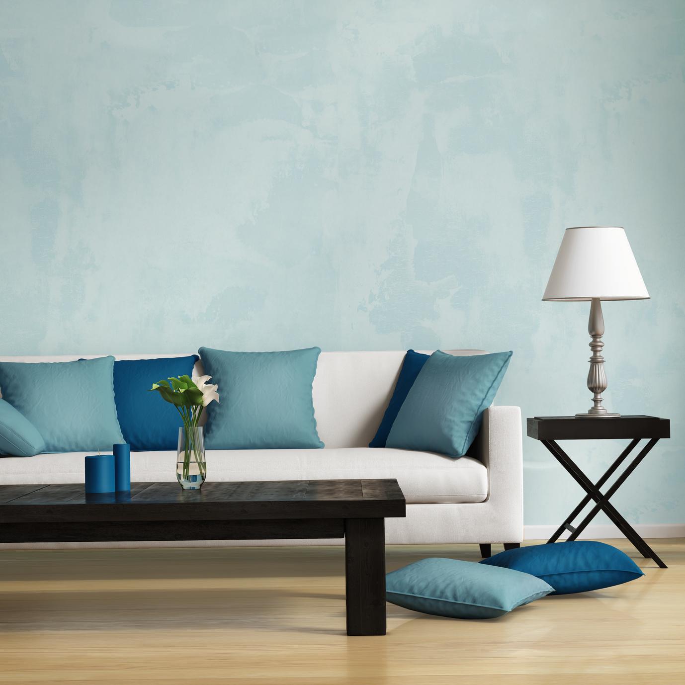Сочетание бирюзового и синего цвета