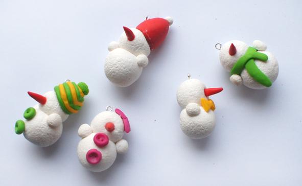 Самодельные снеговики