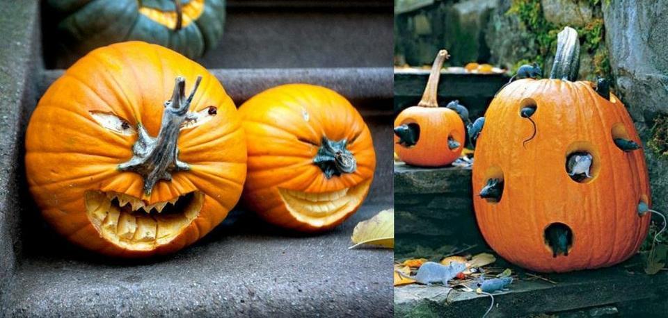 Тыква на хэллоуин своими руками фото 44