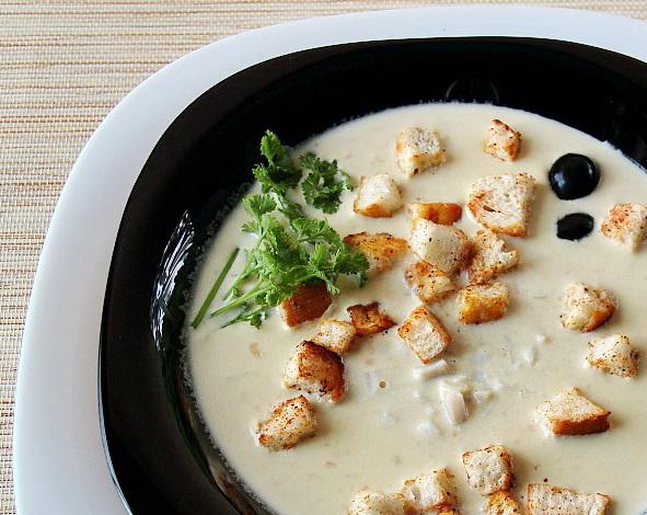 рецепт крем суп из кальмаров