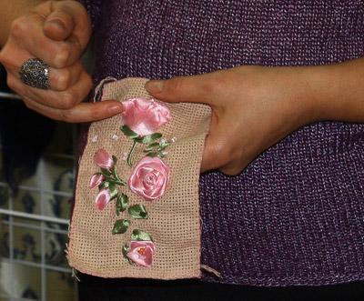 Мастер-класс по вышивке шелковыми лентам