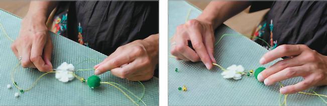 Бусины с узелками как сделать