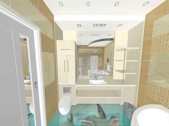 3D полы в ванной
