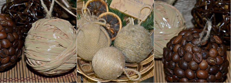 Самодельные шары на елку