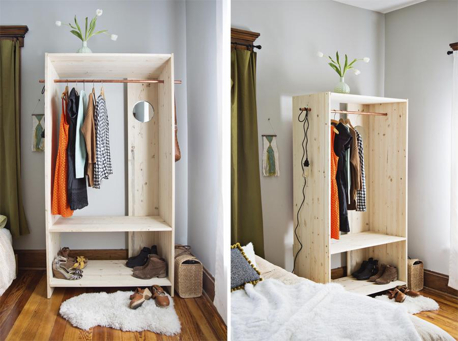Как самому сделать шкаф для одежды за1вечер
