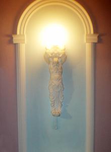 светильник из гипса своими руками