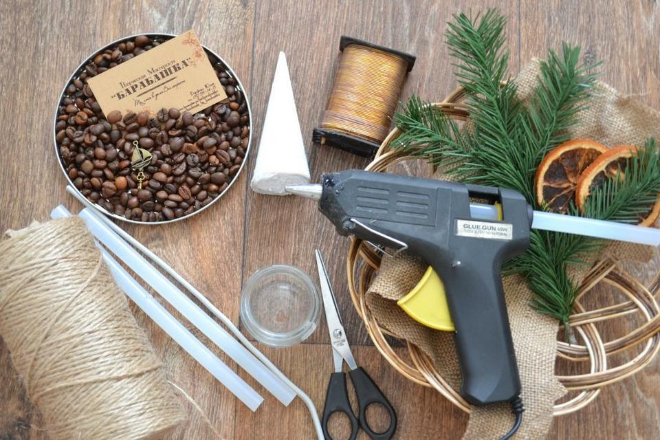 Изготовление новогодней игрушки елка своими руками