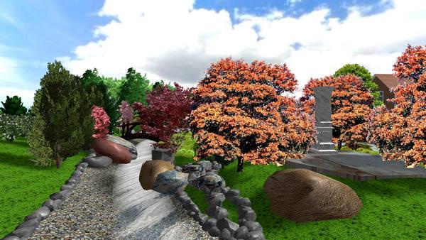 Водоем в японском саду