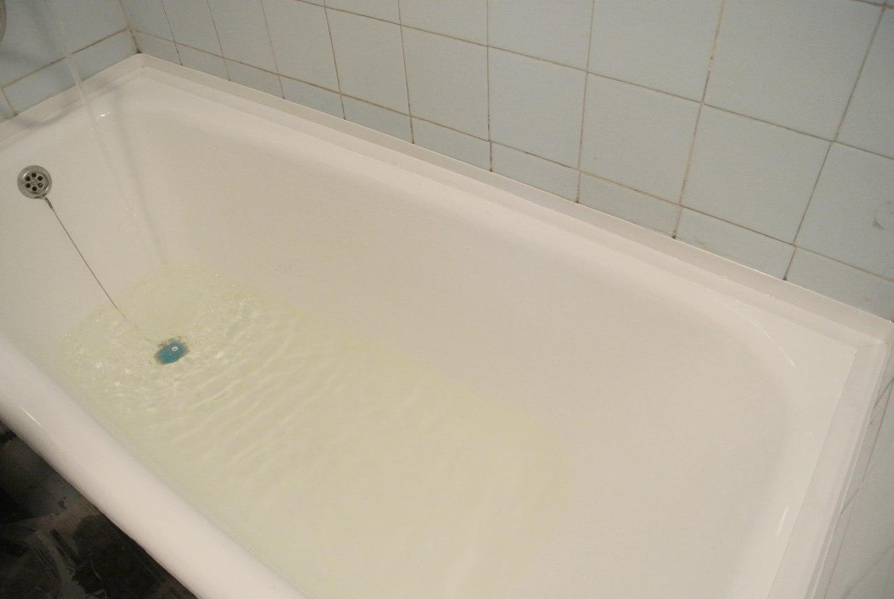 Реставрация старой ванны жидким акрилом своими руками