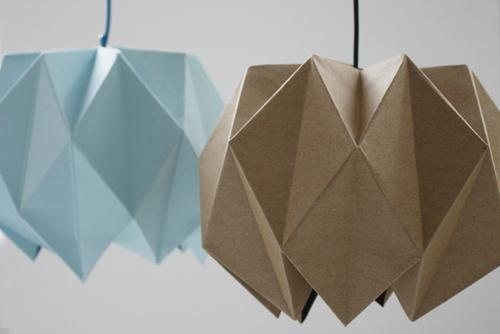 Абажур оригами