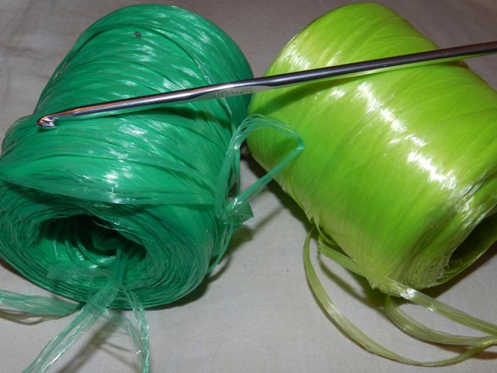 вязание мочалки крючком