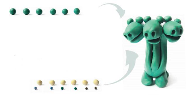 игрушки +из пластилина
