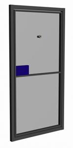 железная дверь из профиля